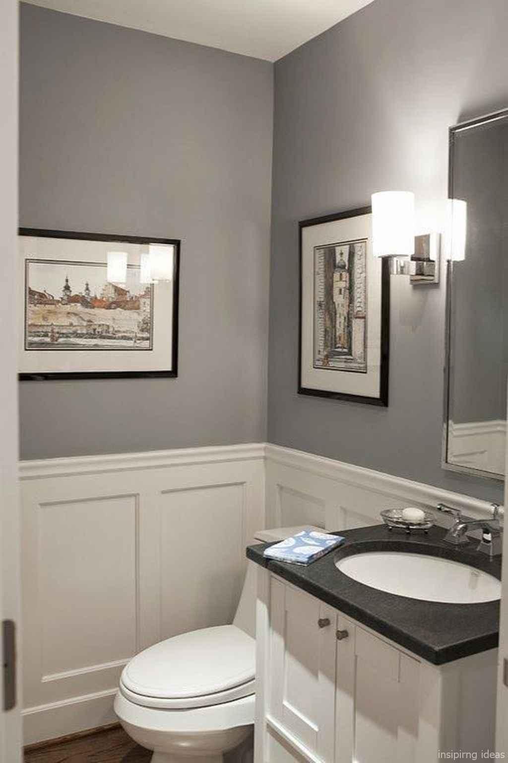 50 Modern Farmhouse Small Bathroom Wall Color Ideas 7 Room